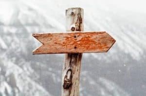 follow sign post