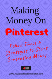 strategies to earn from Pinterest