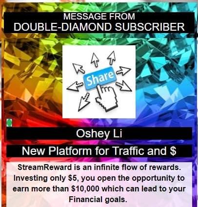 Double diamond subscriber advert