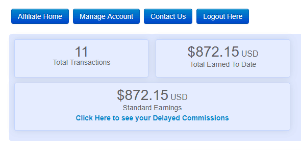 affiliate commissions dashboard