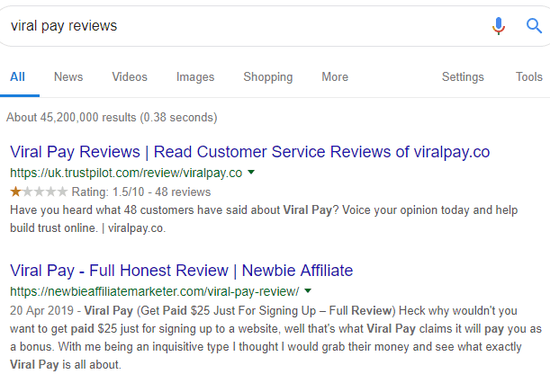 high rankings for product review in google search