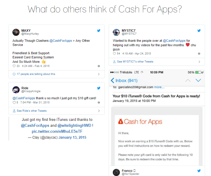 what others think of cash for apps