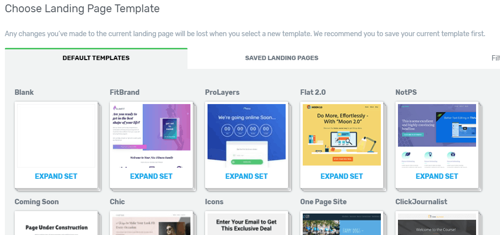 landing page templates from thrive themes