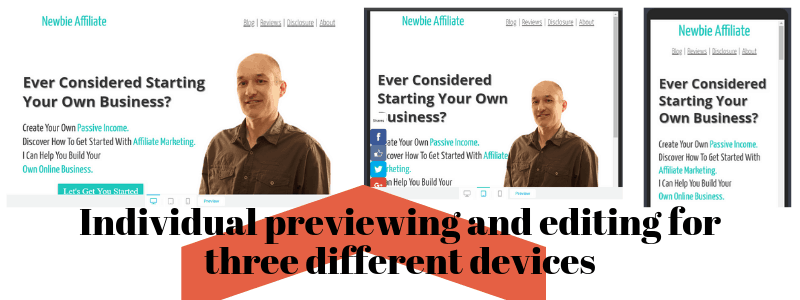 mobile previewing and editing in Thrive