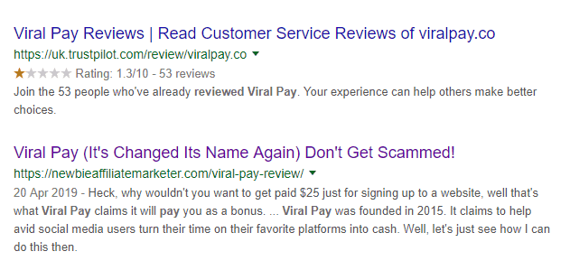 viral pay revew keyword position