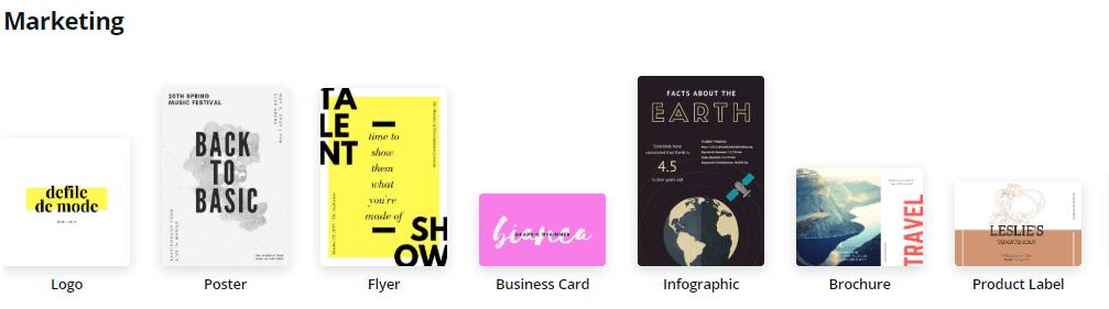 canva marketing design templates