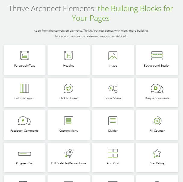 thrive architect building blocks