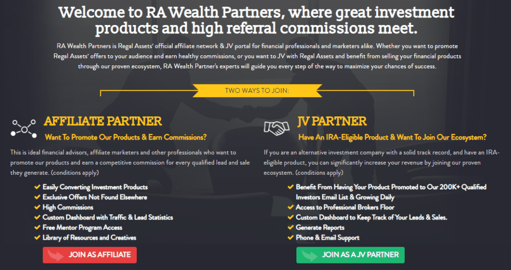 how to join RA wealth partners