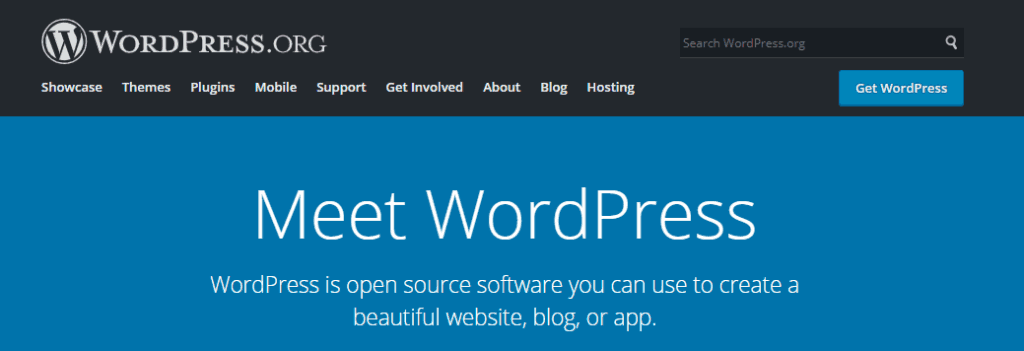 wordpress dot org for creating websites and blogs