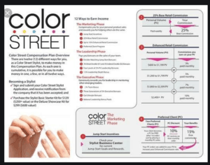 compensation plan color street