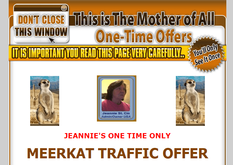 meerkat traffic exchange one time offer