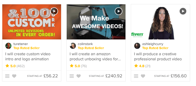 More Fiverr Gigs