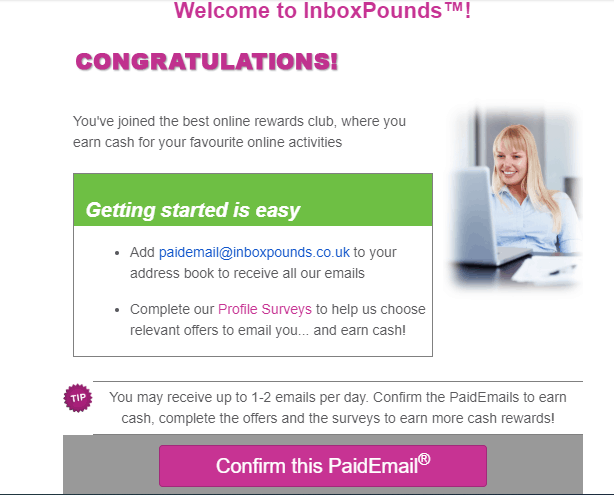 paid emails from inbox pounds