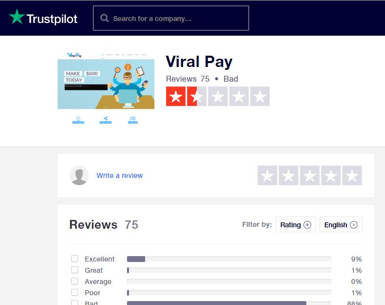 trustpilot review page