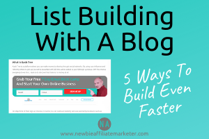 List Building With A Blog