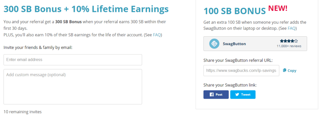 refer and earn with swagbucks