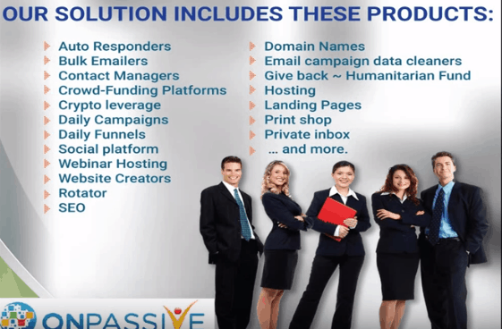 onpassive product solution