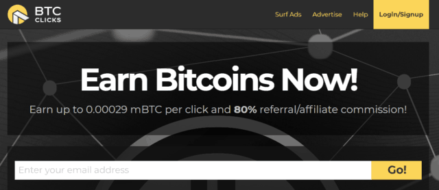 btcclicks home page