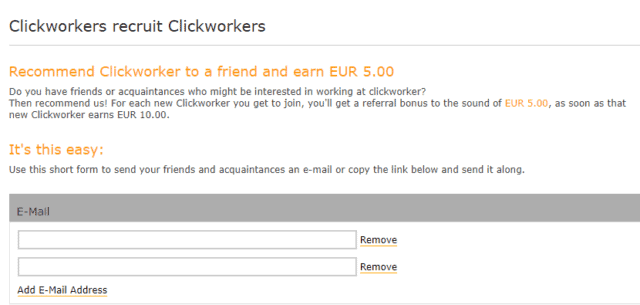 recuit other clickworkers